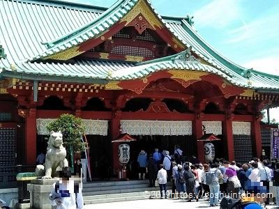神田明神の御社殿(国登録有形文化財)