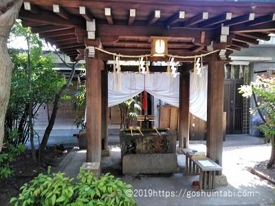 堀越神社の手水舎